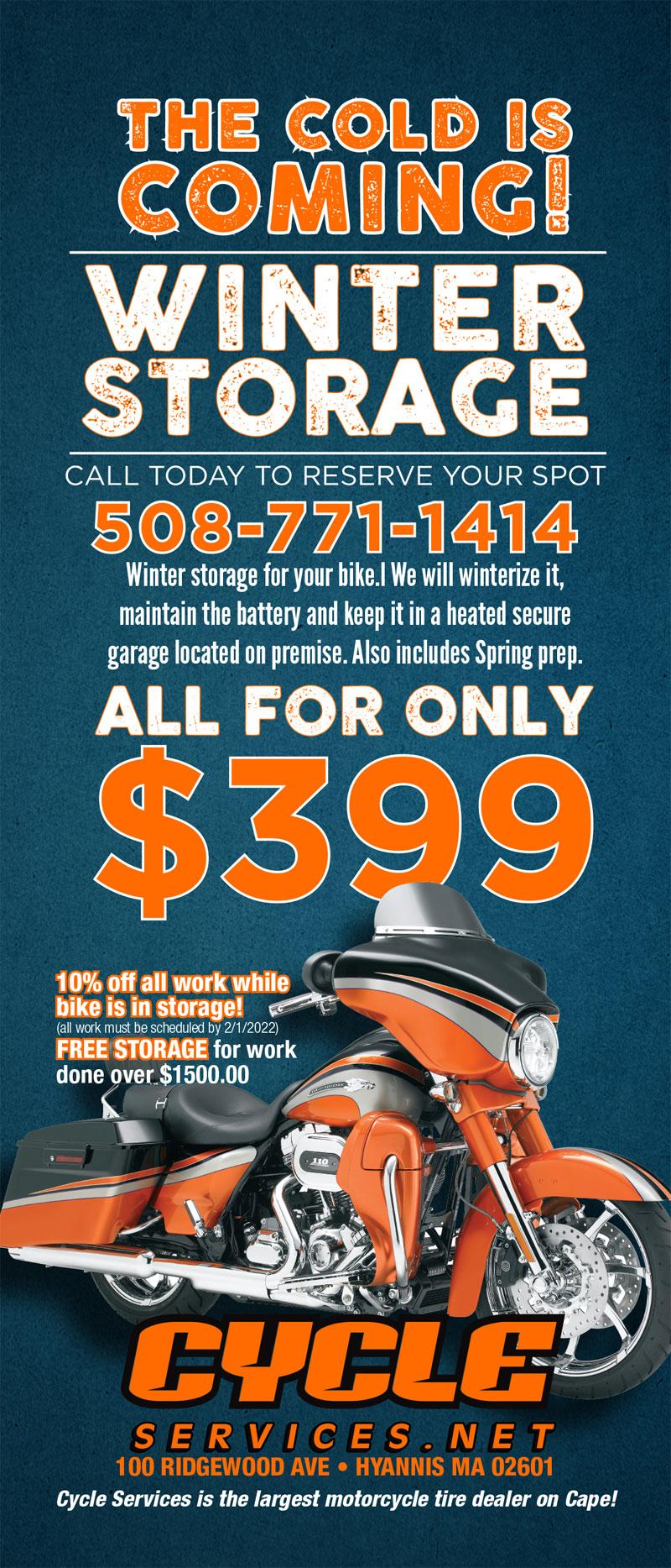 Winter Storage for $399